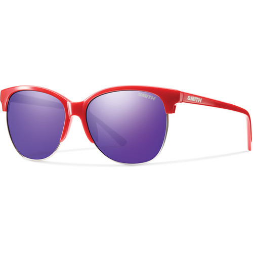 Smith Optics Rebel Sunglasses (Red, Purple Sol X Mirror)