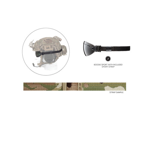 Smith Optics Boogie Sport Hybrid Goggle Replacement Strap - 15mm (MultiCam Camouflage)