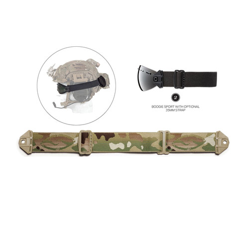 Smith Optics Boogie Sport Hybrid Goggle Replacement Strap - 35mm (MultiCam Camouflage)