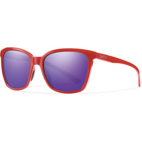 Smith Optics Colette Sunglasses (Red, Purple Sol-X Mirror)