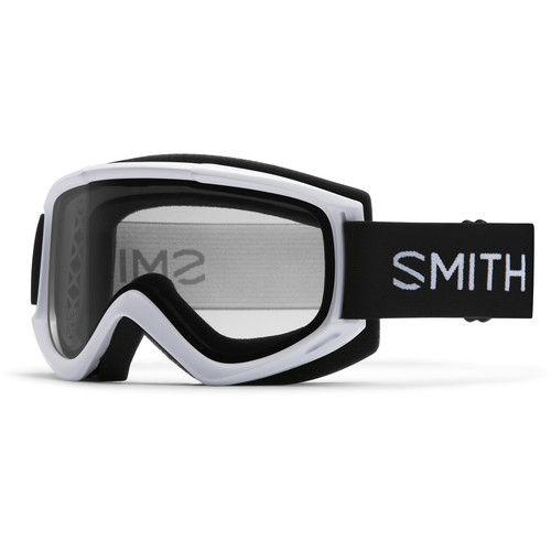 Smith Optics Medium-Fit Cascade Classic Snow Goggle (White Frame, Clear Lens)