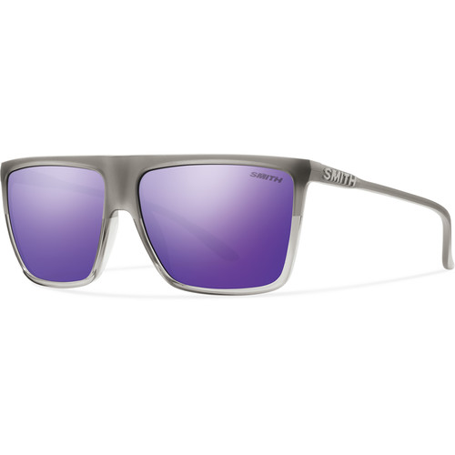 Smith Optics Cornice Sunglasses with Purple Sol-X Mirror Coated Lenses (Smoke Split Frames)