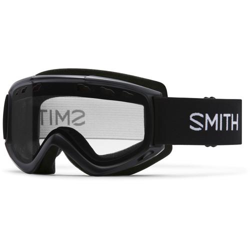 Smith Optics Medium-Fit Cascade Snow Goggle (Black Frame, Clear Lens)