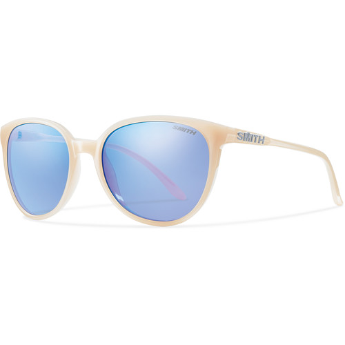 Smith Optics Cheetah Women's Sunglasses with Blue Flash Mirror Lenses (Nude Frames)