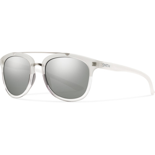 Smith Optics Clayton Sunglasses with Super Platinum Mirror Coating (Crystal Split Frame)