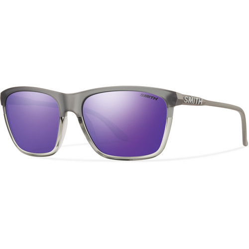 Smith Optics Delano Sunglasses with Purple Sol-X Mirror Lenses (Smoke Split Frames)