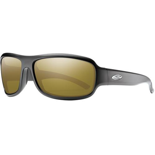 Smith Optics Drop Elite Ballistic Sunglasses (Matte Black / ChromaPop Polar Bronze Mirror)