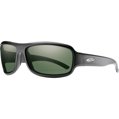 Smith Optics Drop Elite Ballistic Sunglasses (Matte Black / ChromaPop Polar Gray Green)
