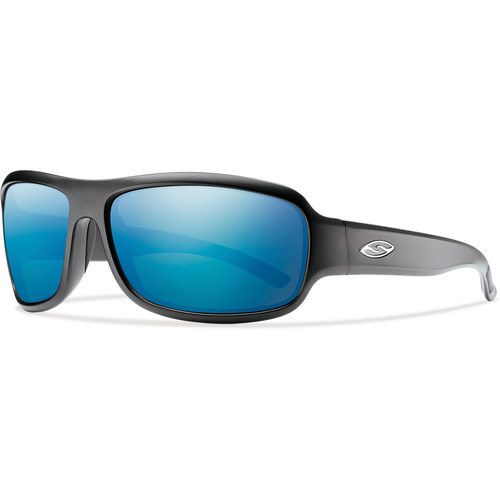 Smith Optics Drop Elite Ballistic Sunglasses (Matte Black / ChromaPop Polar Blue Mirror)