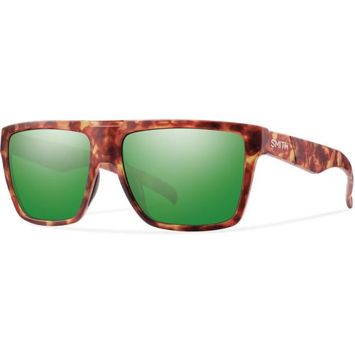 Smith Optics Men's Edgewood Sunglasses (Green Sol-X Mirror Lenses & Matte Yellow Tortoise Frames)