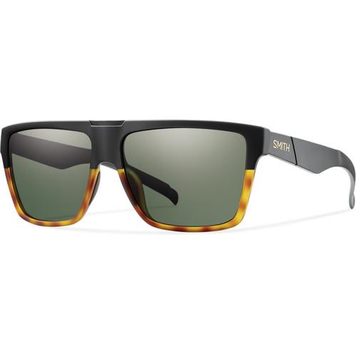 Smith Optics Men's Edgewood Sunglasses (Gray-Green Lenses & Matte Black Fade Tortoise Frames)