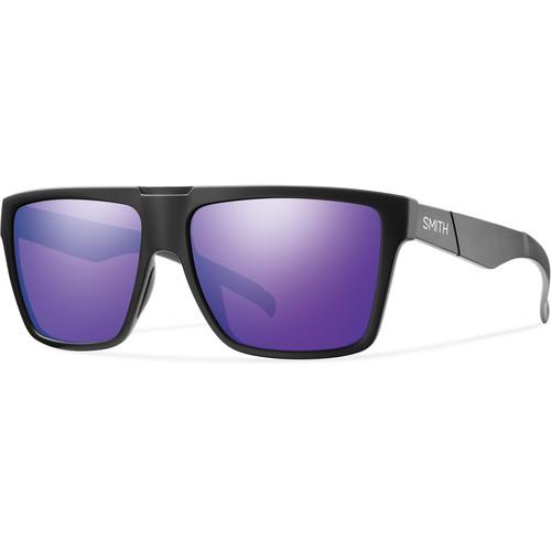 Smith Optics Men's Edgewood Sunglasses (Purple Sol-X Mirror Lenses & Matte Black Frames)