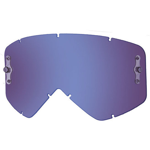 Smith Optics Intake/Fuel Goggle Replacement Lens (Single Layer, Blue Mirror)