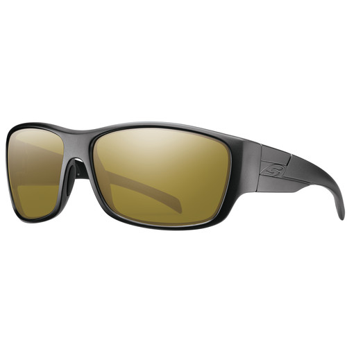 Smith Optics Frontman Elite Ballistic Sunglasses (Black / ChromaPop Polar Bronze Mirror)