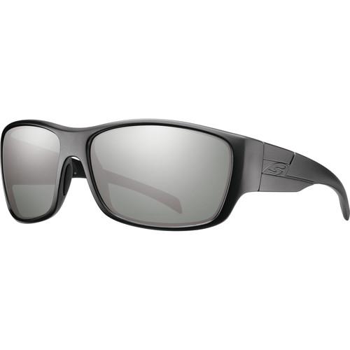 Smith Optics Frontman Elite Ballistic Sunglasses (Black / ChromaPop Polar Platinum Mirror)