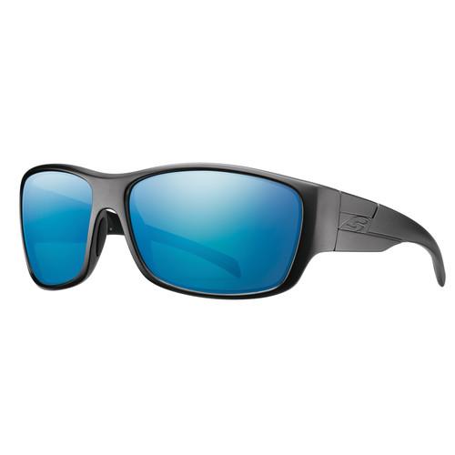 Smith Optics Frontman Elite Ballistic Sunglasses (Black / ChromaPop Polar Blue Mirror)