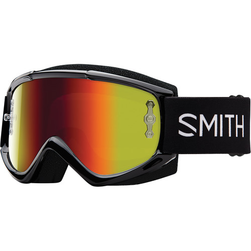 Smith Optics Medium-Fit Fuel V.1 Max M Off Road Goggles (Black Frame, Red Mirror Lens)
