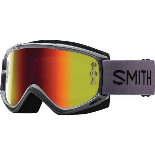 Smith Optics Medium-Fit Fuel V.1 Max M Off Road Goggles (Charcoal Frame, Red Mirror Lens)