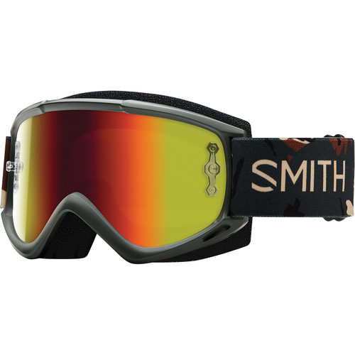 Smith Optics Medium-Fit Fuel V.1 Max M Off Road Goggles (Disruption Frame, Red Mirror Lens)