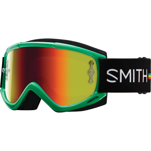 Smith Optics Medium-Fit Fuel V.1 Max M Off Road Goggles (Irie Frame, Red Mirror Lens)