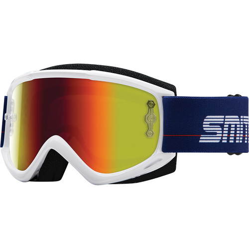 Smith Optics Medium-Fit Fuel V.1 Max M Off Road Goggles (Archive 1989 White Frame, Red Mirror Lens)