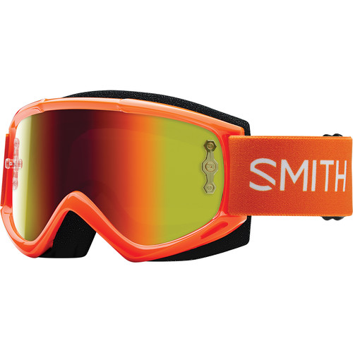 Smith Optics Medium-Fit Fuel V.1 Max M Off Road Goggles (Orange Frame, Red Mirror Lens)