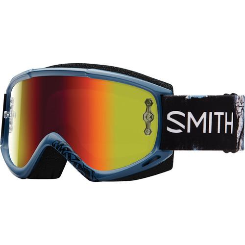 Smith Optics Medium-Fit Fuel V.1 Max M Off Road Goggles (Sketchy Frame, Red Mirror Lens)