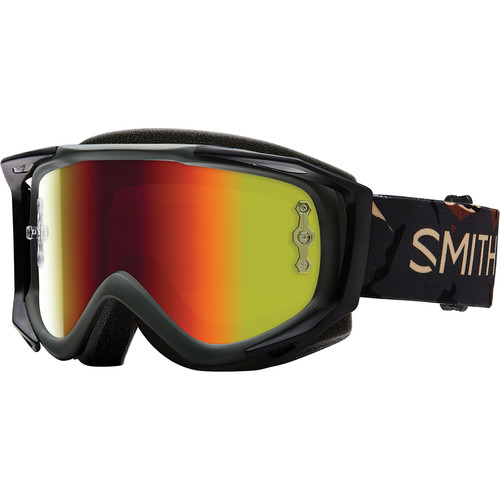 Smith Optics Medium-Fit Fuel V.2 Sweat XM Off Road Goggles (Disruption Frame, Red Mirror Lens)