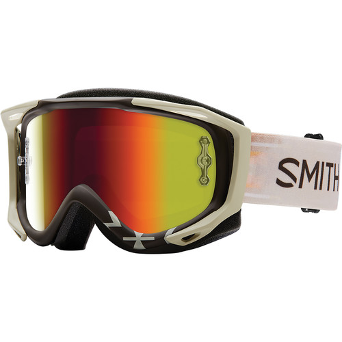 Smith Optics Medium-Fit Fuel V.2 Sweat XM Off Road Goggles (Lasso Frame, Red Mirror Lens)