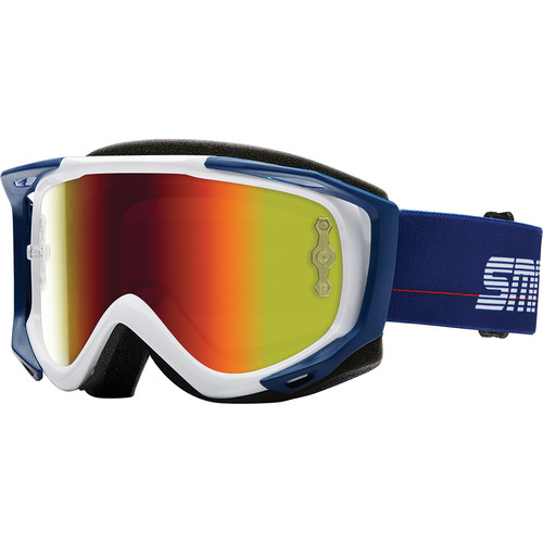 Smith Optics Medium-Fit Fuel V.2 Sweat XM Off Road Goggles (Archive 1989 White Frame, Red Mirror Lens)
