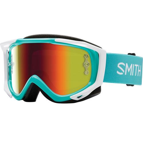Smith Optics Medium-Fit Fuel V.2 Sweat XM Off Road Goggles (Opal Frame, Red Mirror Lens)