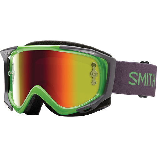 Smith Optics Medium-Fit Fuel V.2 Sweat XM Off Road Goggles (Reactor Frame, Red Mirror Lens)