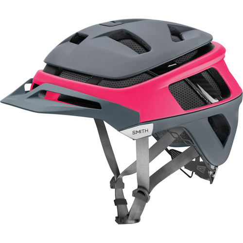 Smith Optics Forefront Racing Bike Helmet (Small, Matte Pink/Charcoal)