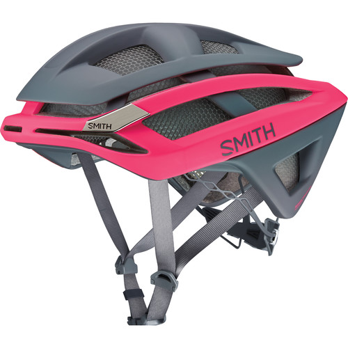 Smith Optics Overtake Bike Helmet (Medium, Matte Pink/Charcoal)
