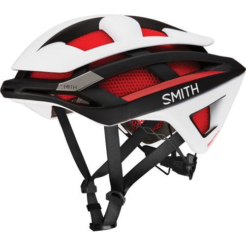 Smith Optics Overtake Bike Helmet (Large, Matte Red/White/Black)