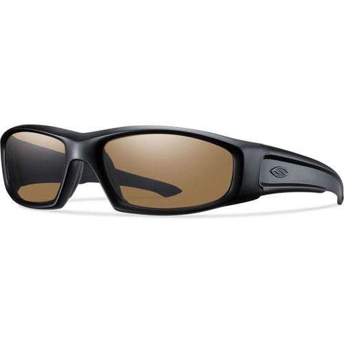 Smith Optics Hudson Elite Tactical Sunglasses (Black - Polarized Brown Lens)