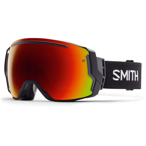 Smith Optics I/O 7 Snow Goggles (Black Frames, Red Sol-X Mirror/Blue Sensor Mirror Lenses)