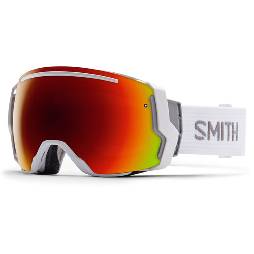 Smith Optics I/O 7 Snow Goggles (White Frames, Red Sol-X Mirror/Blue Sensor Mirror Lenses)