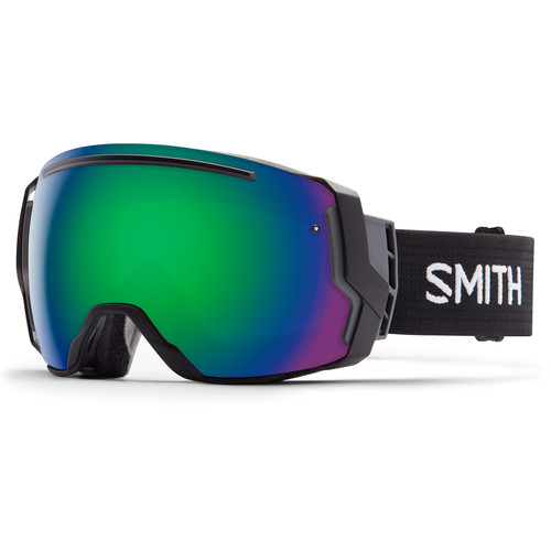Smith Optics I/O 7 Snow Goggles (Black Frames, Green Sol-X Mirror/Red Sensor Mirror Lenses)