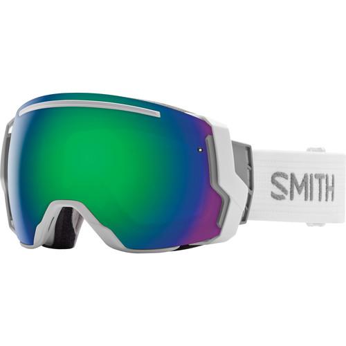 Smith Optics I/O 7 Snow Goggles (White Frames, Green Sol-X Mirror/Red Sensor Mirror Lenses)