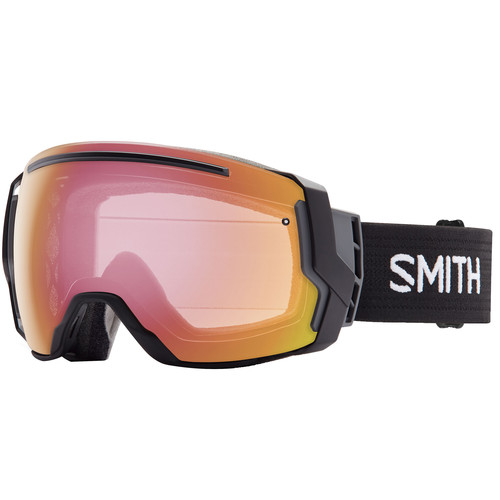 Smith Optics I/O 7 Snow Goggles (Black Frames, Blackout/Photochromic Red Sensor Mirror Lenses)