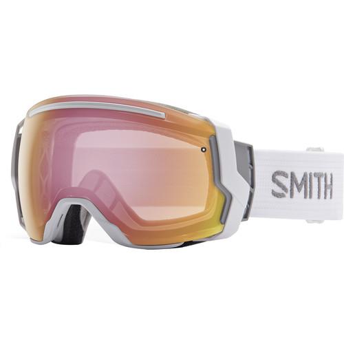 Smith Optics I/O 7 Snow Goggles (White Frames, Blackout/Photochromic Red Sensor Mirror Lenses)