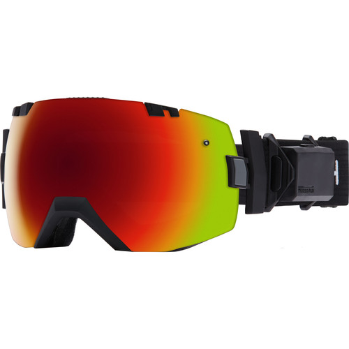 Smith Optics Medium/Large-Fit I/O X Turbo Fan Snow Goggle (Black Frame, Red Sol-X Mirror/Blue Sensor Mirror Lens)