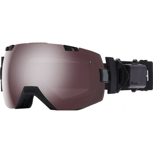 Smith Optics Medium/Large-Fit I/O X Turbo Fan Snow Goggle (Black Frame, Ignitor Mirror/Red Sensor Mirror Lens)