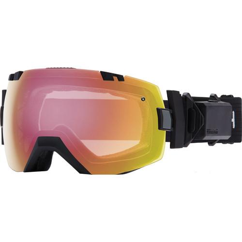 Smith Optics Medium/Large-Fit I/O X Turbo Fan Snow Goggle (Black Frame, Photochromic Red Sensor Mirror/Blackout Lens)