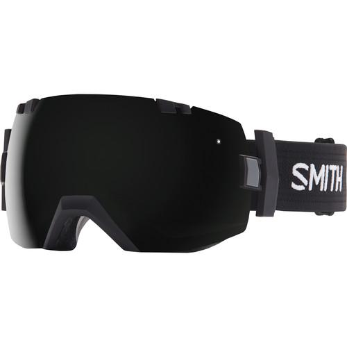 Smith Optics Medium/Large-Fit I/O X Snow Goggle (Black Frame, Blackout/Yellow Sensor Mirror Lens)