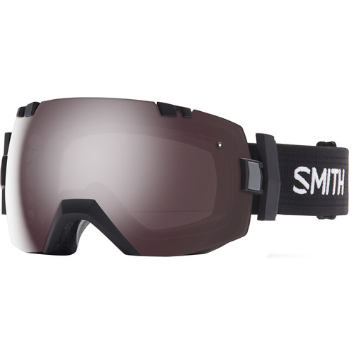 Smith Optics Medium/Large-Fit I/O X Snow Goggle (Black Frame, Ignitor Mirror/Red Sensor Mirror Lens)