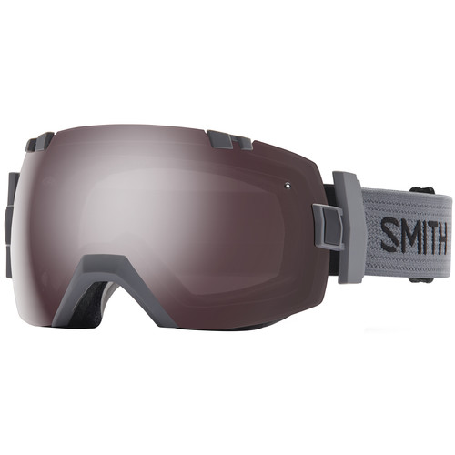Smith Optics Medium/Large-Fit I/O X Snow Goggle (Charcoal Frame, Ignitor Mirror/Red Sensor Mirror Lens)
