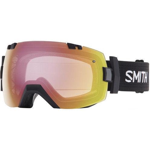 Smith Optics Medium/Large-Fit I/O X Snow Goggle (Black Frame, Blackout/Photochromic Red Sensor Mirror Lens)