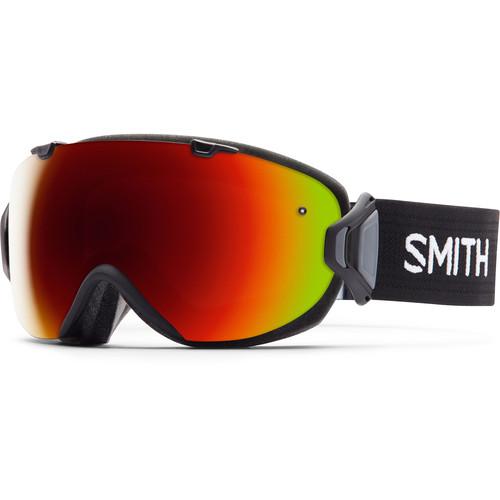 Smith Optics Women's Medium-Fit I/O S Snow Goggle (Black Frame, Red Sol-X Mirror/Blue Sensor Mirror Lens)